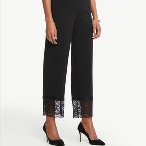 Ann Taylor Factory black pants with lace